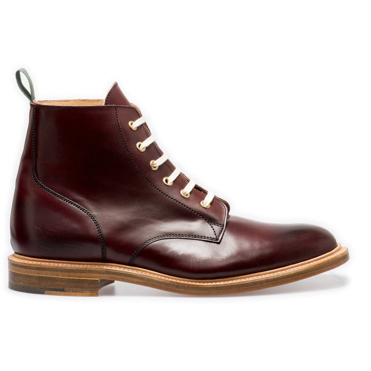 NPS GLADSTONE Plain Derby Boots - Burgundy