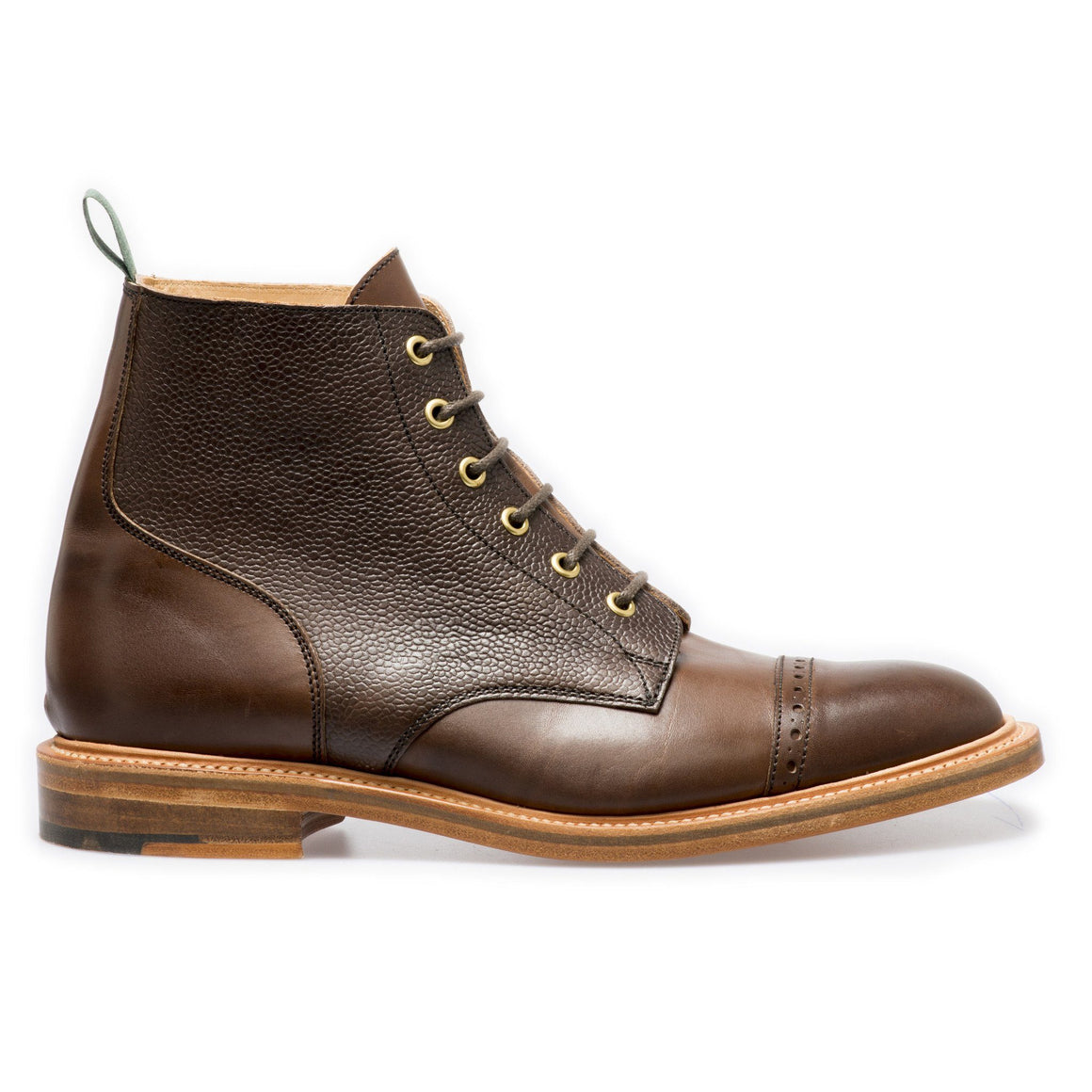 NPS EDEN Derby Straight Cap Boots - Walnut Grain