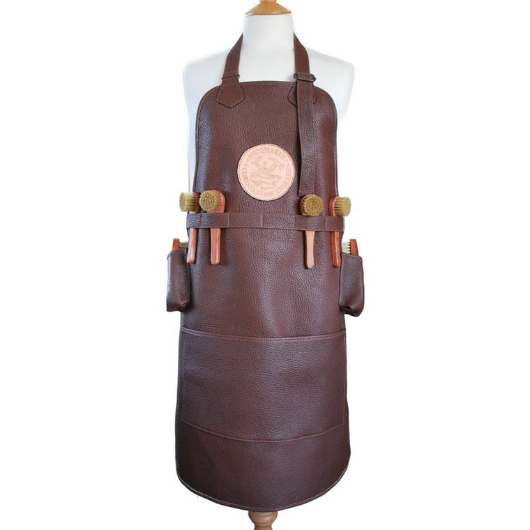 La Cordonnerie Anglaise Leather Shoeshine Apron with Brushes