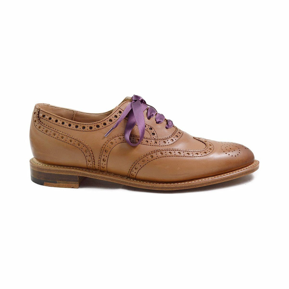 NPS Womens Charlotte Acorn Tan Brogue Shoes