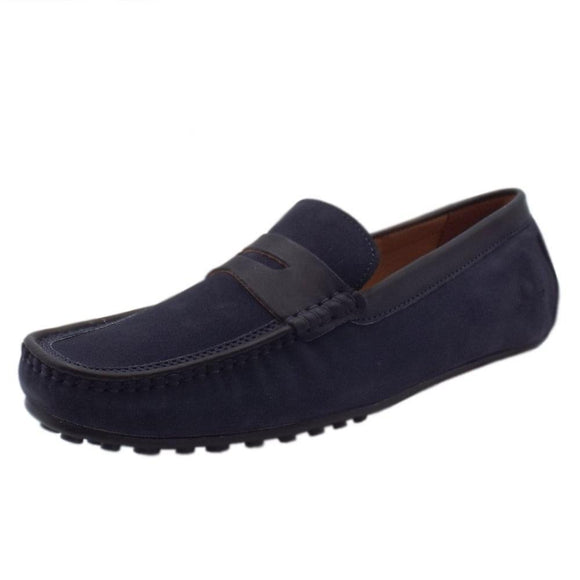 Chatham TOGA Driving Shoes - Navy Suede