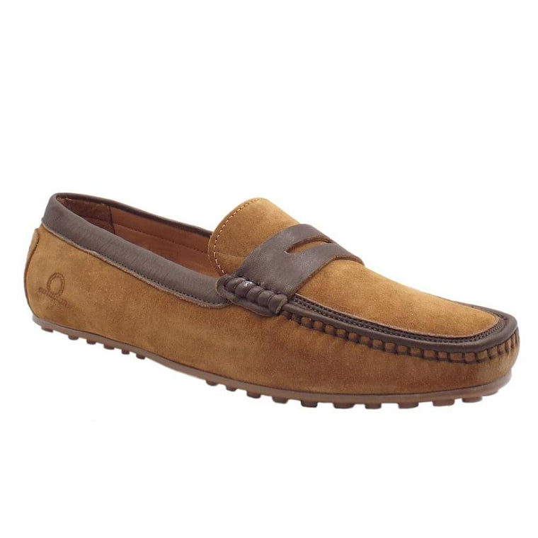 Chatham TOGA Driving Shoes - Tan Suede
