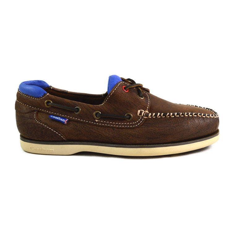 Chatham Made in Britain Deck Shoe - CHURCHILL Dark Brown