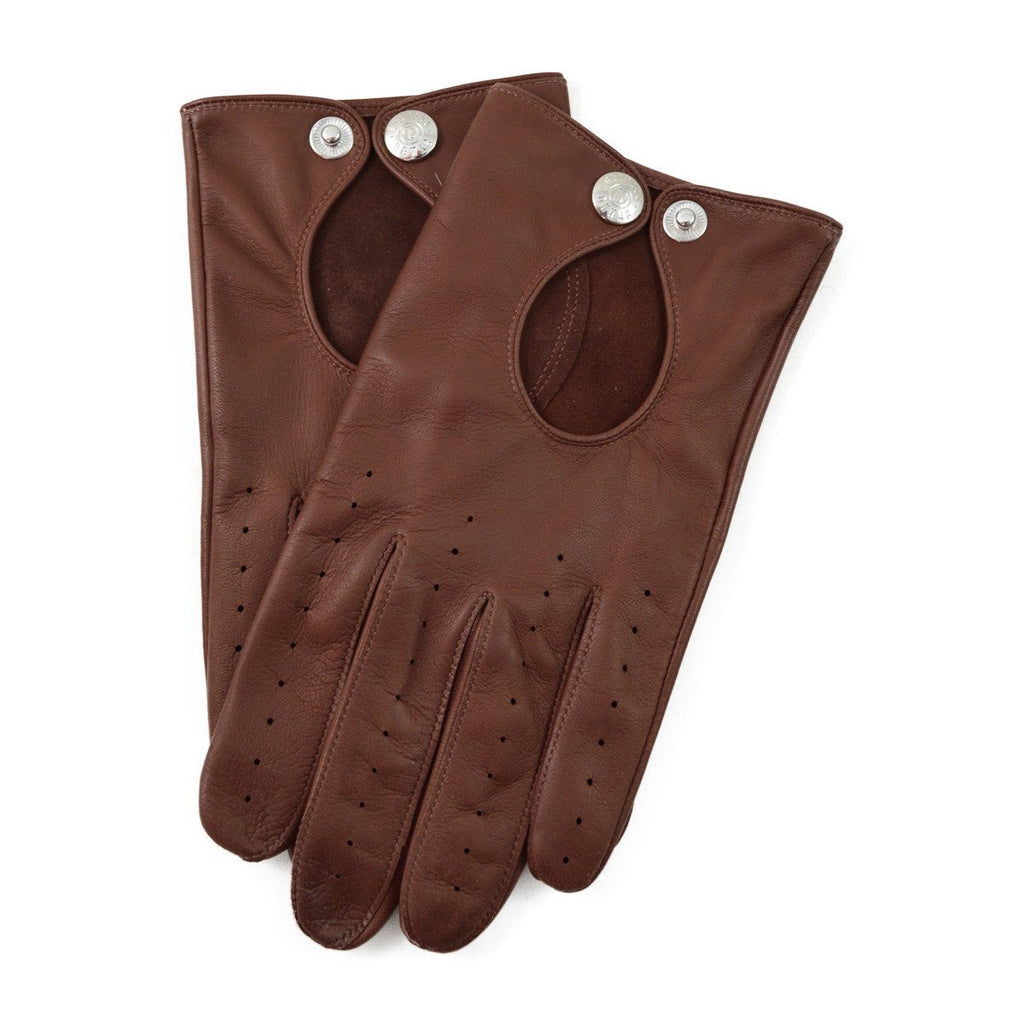 DENTS CLIVEDEN Perforated Leather Driving Gloves - English Tan