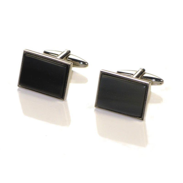 ABBEYHORN Cufflinks - Rectangle Oxhorn