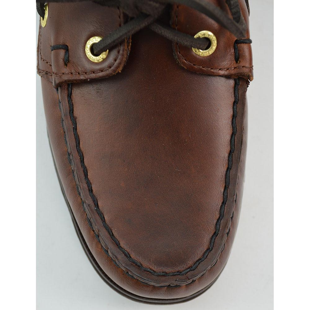 Sebago Endeavour Brown Oiled Waxy Deck Shoes
