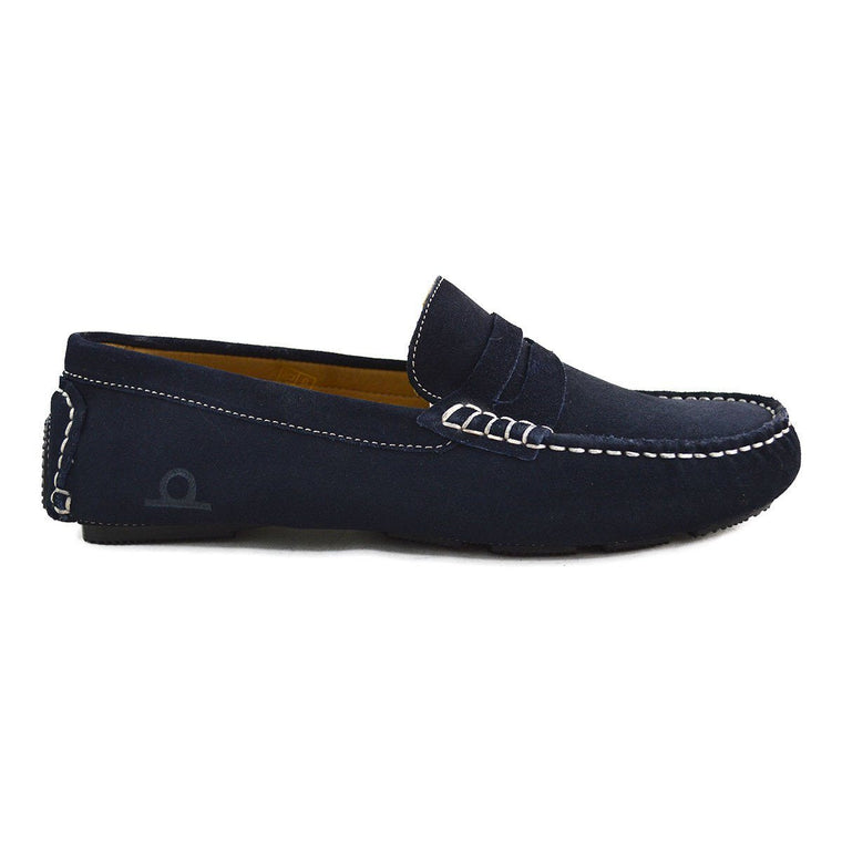 Chatham Escape Driving Shoes - Navy Suede 6F Only