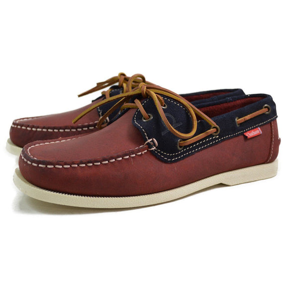 Chatham GALLEY BOAT SHOE - Red/Navy