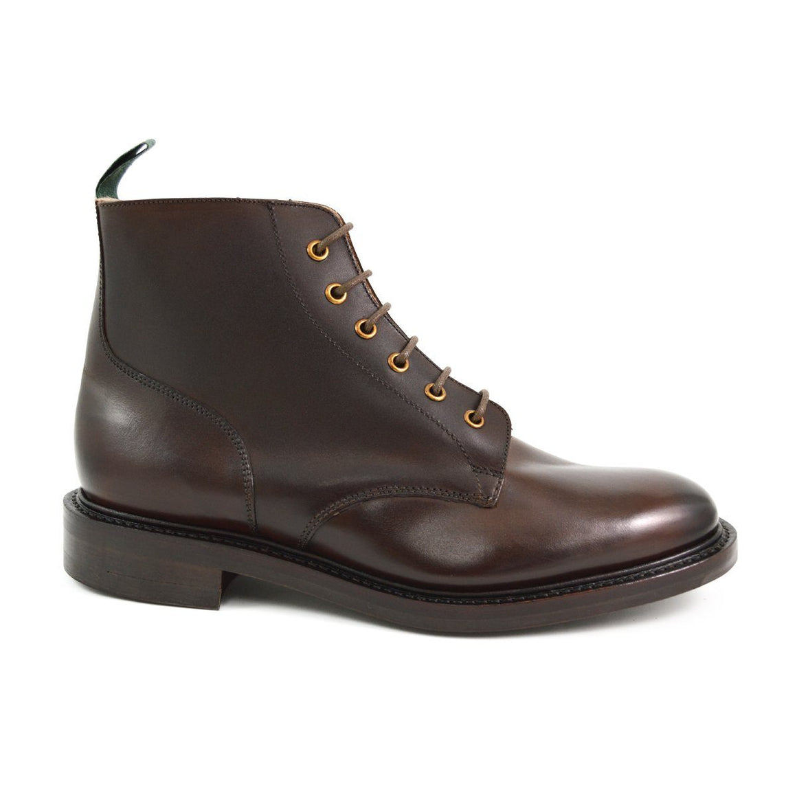 NPS GLADSTONE Plain Derby Boots - Ebony with Dainite Sole
