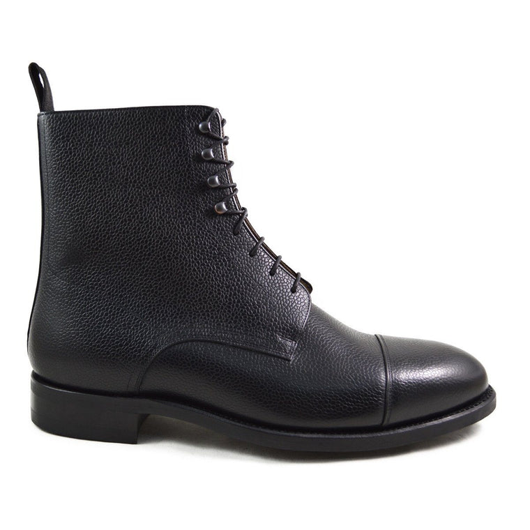 Carlos Santos Jumper Boot in Black Grain - 10.5F