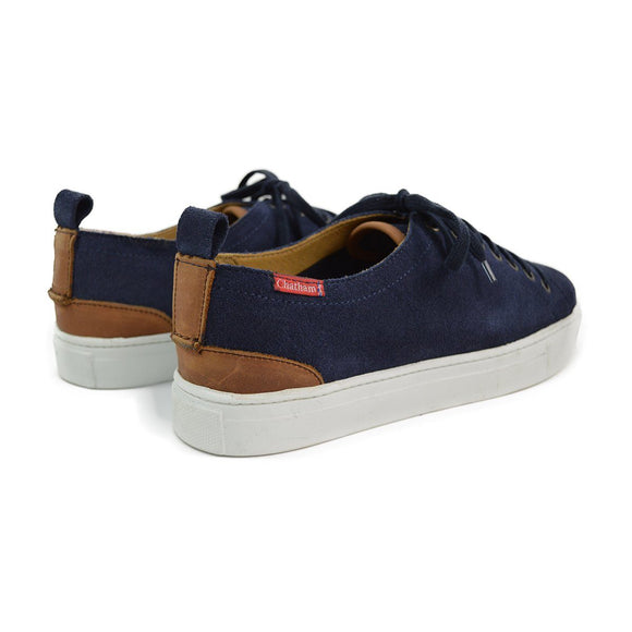 Chatham HERON Lace Up Trainers - Navy Suede