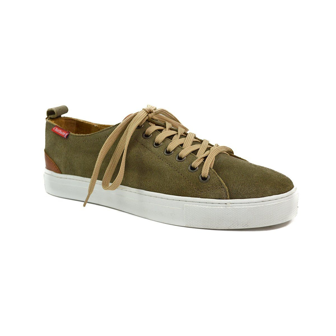 Chatham HERON Lace Up Trainers - Khaki Suede