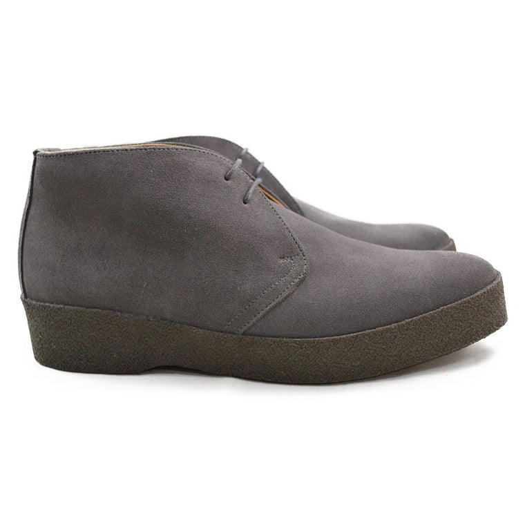 Sanders HI-TOP Chukka Boot - Grey Suede