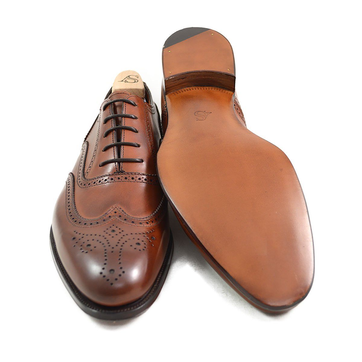 f203cd84959 Alfred Sargent HUNT MAHOGANY - 12F Last Pair - A Fine Pair of Shoes -  English Handmade Shoes and Brogues Online
