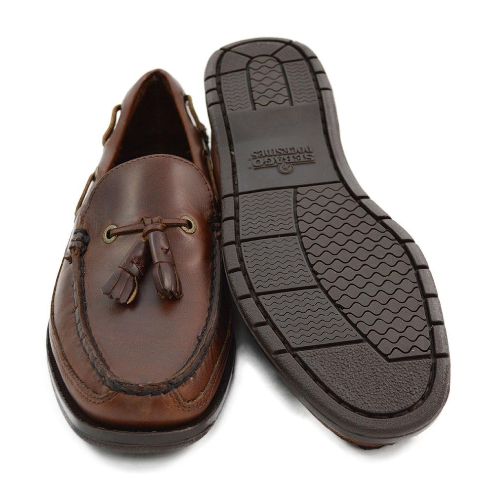 f2b822b242c5c Sebago Ketch Brown Oiled Waxy Slip On Tasselled Shoes - A Fine Pair of  Shoes - English Handmade Shoes and Brogues Online