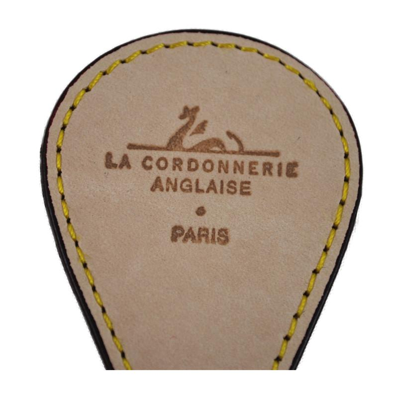 La Cordonnerie Anglaise Leather Pocket shoehorn - Brass