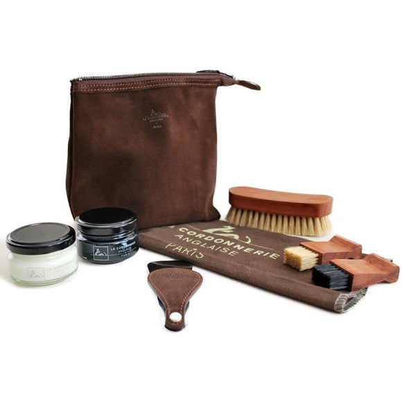 La Cordonnerie Anglaise Biarritz Travel Shoe Care Kit