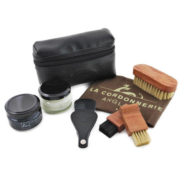 La Cordonnerie Anglaise Pouch Shoe Care Kit - Black