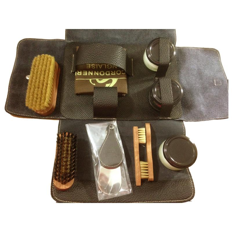 La Cordonnerie Anglaise Nomad Shoe Care Kit - Brown