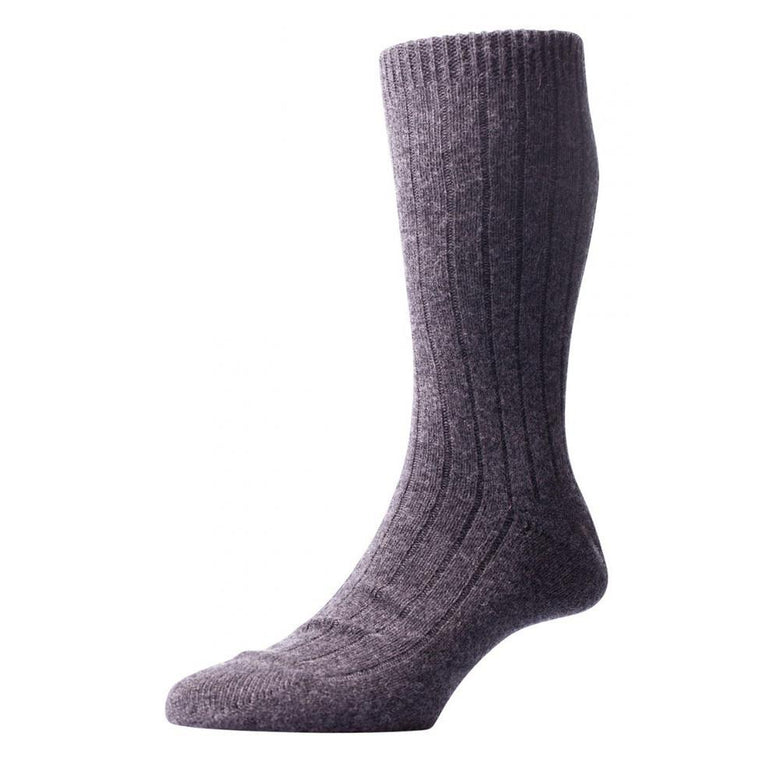Pantherella Waddington Luxury Cashmere Socks - Charcoal