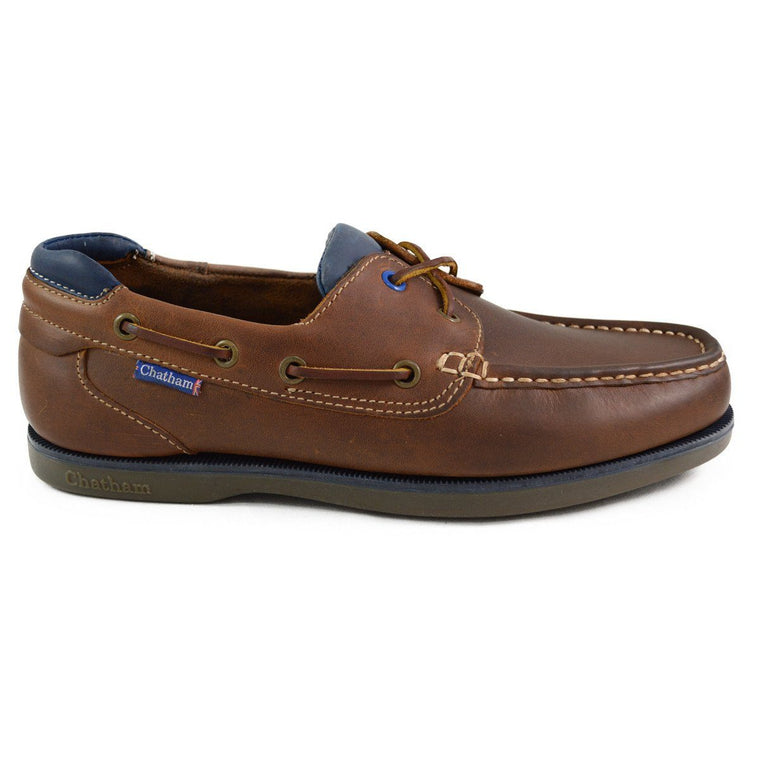 Chatham Made in Britain Deck Shoe - PITT Tan
