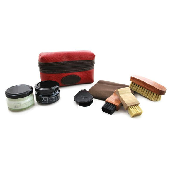 La Cordonnerie Anglaise Pouch Shoe Care Kit - Red
