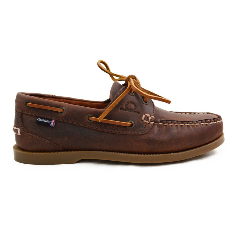 Chatham DECK II G2 BOAT SHOE - Red Brown