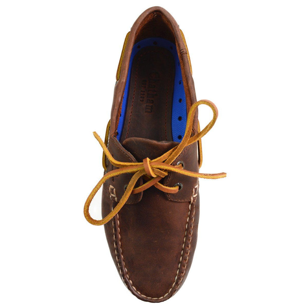 Chatham DECK II G2 BOAT SHOE - Red Brown Last Pair 7F
