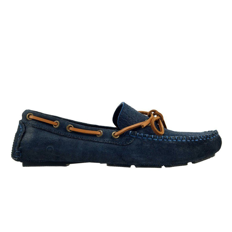 Chatham RILEY Suede Driving Shoe - Navy