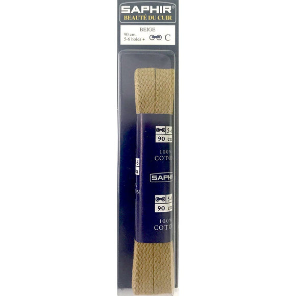 Saphir 5mm Flat Cotton Laces 90cm