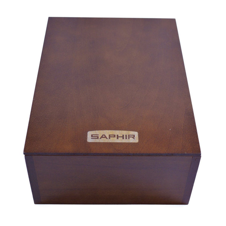Saphir Wooden Slide Cover Shoe Care Box
