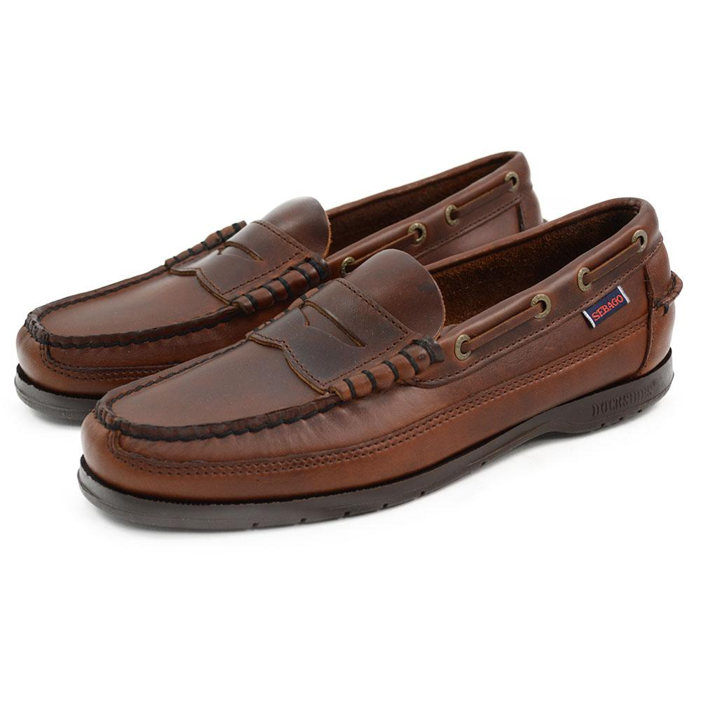 9d35e120ee Sebago Sloop Brown Oiled Waxy Slip On Shoes - A Fine Pair of Shoes ...