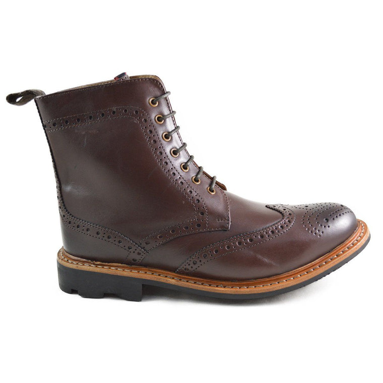 Chatham STRATTON Brogue Boots - Dark Brown