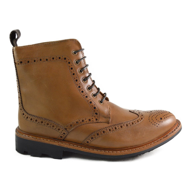 Chatham STRATTON Brogue Boots - Tan