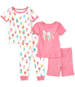 Ice Cream 4 Pack PJ Set