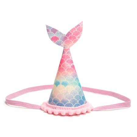 Mermaid Tail Party Hat Rainbow