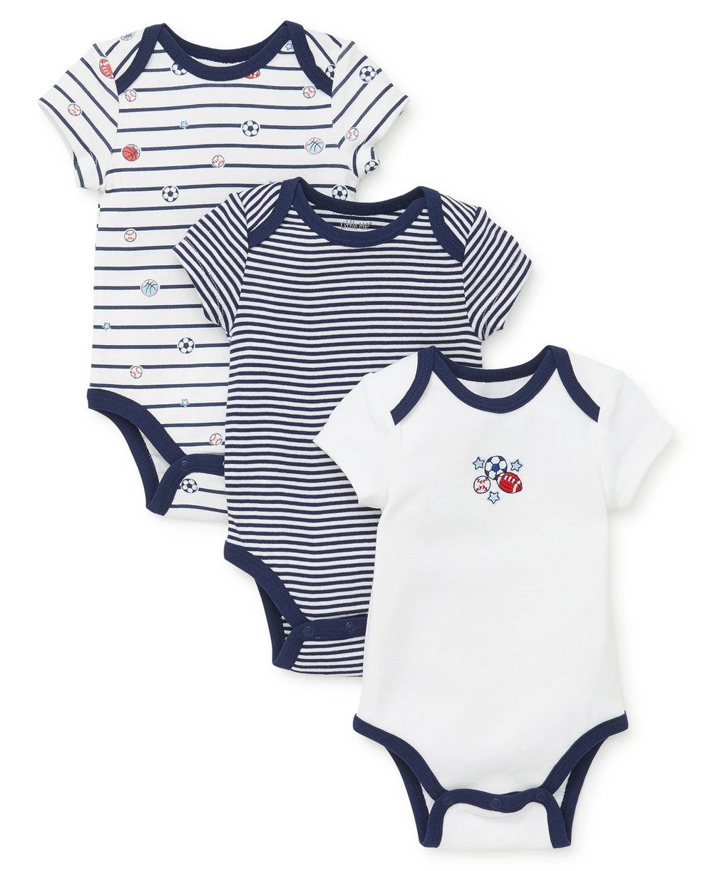 Sports Star 3 pack Bodysuits