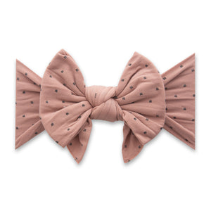 Putty with Black Dots Dang Enormous Bow Headband