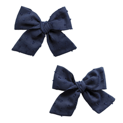 Clipped Dot Navy 2 pack Big Cotton Clips