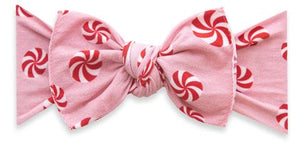 Baby Bling Pink Peppermint Printed Knot Headband
