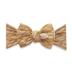 Baby Bling Mustard Leaf Printed Knot
