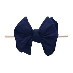 Navy Fab-Bow-Lous Skinny Blush Band