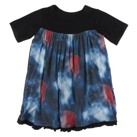 Red Ginger Galaxy Swing Dress