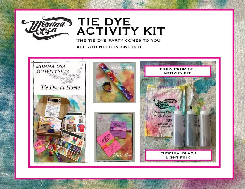 Youth Tie Dye Activity Kit- Pinky Promise Fushia and Black