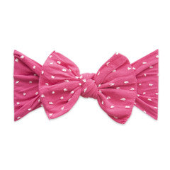 Baby Bling Hot Pink Dot Patterned Shabby Knot