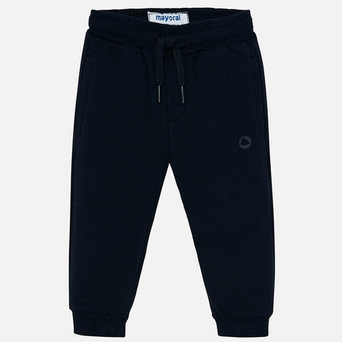 Fleece Navy Basic Jogger Pants