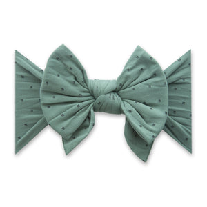 Fern with Black Dot Dang Enormous Bow Headband