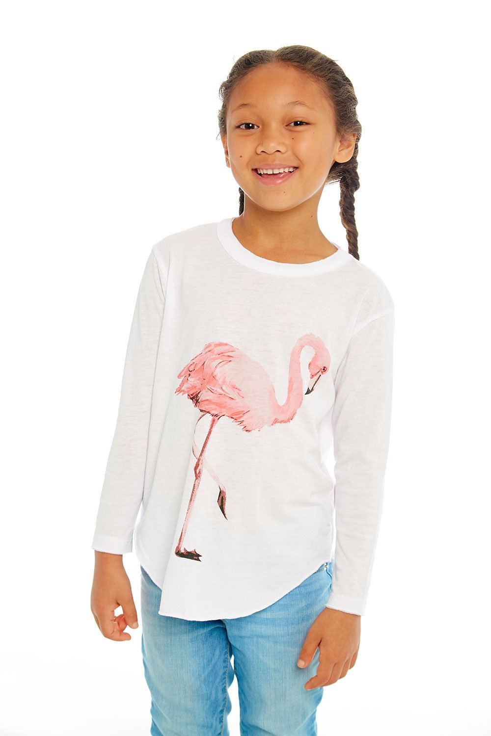 Watercolor Flamingo Long Sleeve Tee
