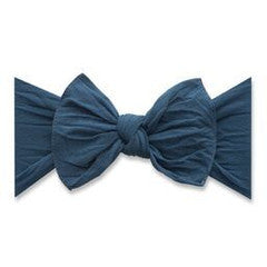 Baby Bling Slate Blue Classic Knot Headband