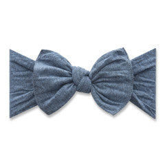 Baby Bling Heathered Denim Patterned Knot